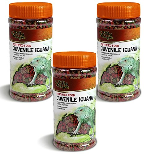 (3 Pack) Zilla Juvenile Iguana Fortified Food, 6.5 Ounce Containers