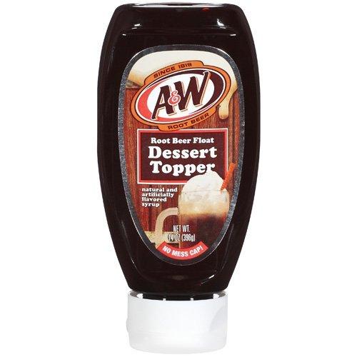 Root Beer Float Dessert - A&W Root Beer Float Dessert Topper 14 Oz. Bottle (Pack of 3)
