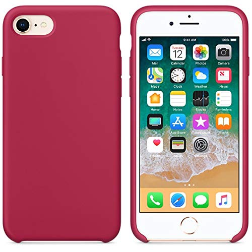 new styles a88cd 8421f BigMike Compatible for iPhone 7 Case, iPhone 8 Case, Soft Liquid Silicone  Shock-Absorption Case with Soft Microfiber Cloth Lining Cushion for iPhone  ...
