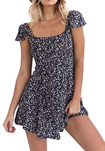 Yeesea Damen Sommerkleider Dress Ohne Arm Kleider Partykleid ...