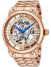Stuhrling Original Men's Lifestyle Winchester 44 Elite Skeleton Rosetone Watch 165B2B.334414