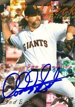 Autograph Warehouse 76749 Rod Beck Autographed Baseball C...