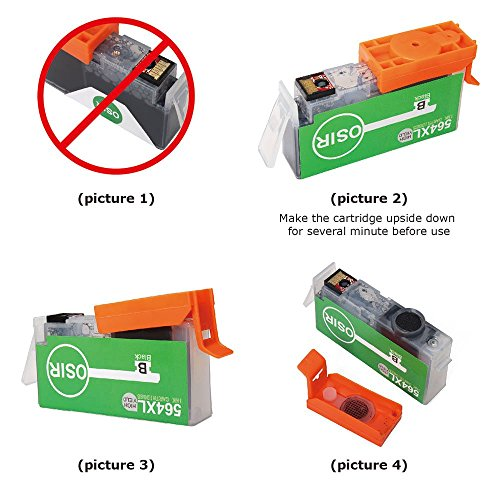 OSIR Compatible Ink Cartridges for HP 564 Used in HP 7510 5520 7515 B8550 C309a C410a Officejet 3520