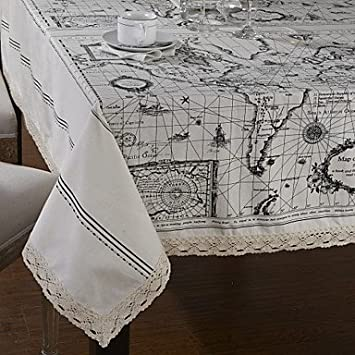 Amazon world map style table cloth home kitchen gumiabroncs Image collections