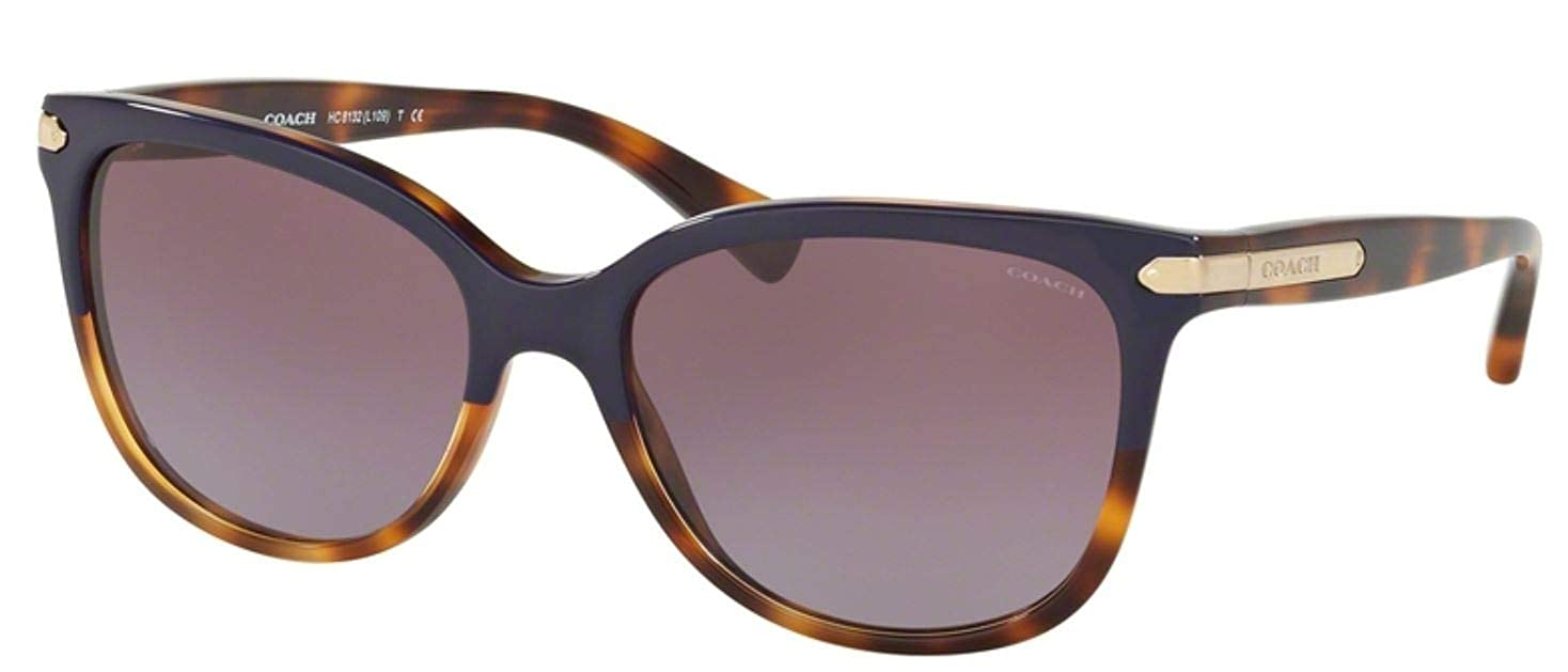 3fdeb7e9fdbc Amazon.com: Coach Womens L109 Sunglasses (HC8132) Tortoise/Purple Acetate -  Non-Polarized - 57mm: Clothing
