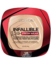 L'Oreal Paris Infallible 24H Fresh Wearfoundation In A Powder, Waterproof Matte Finish, ivory buff 125, 1 Count