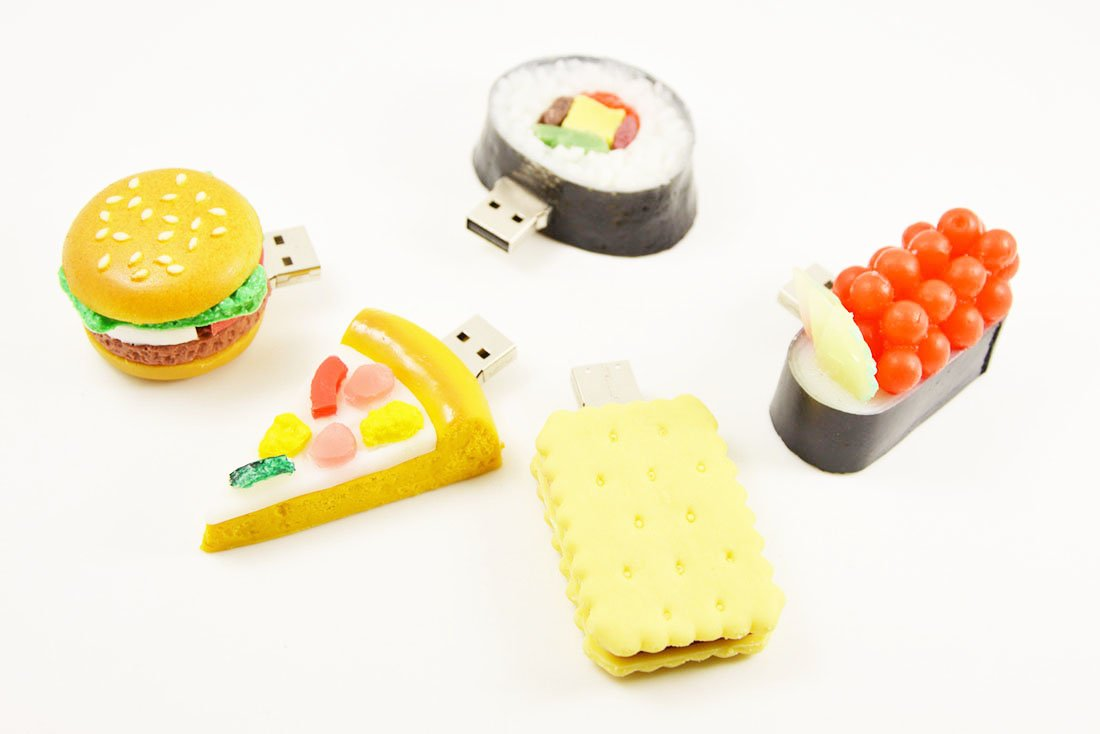 FEBNISCTE 5 Pcs 32GB Cutely Food Series Flash Memory Great Christmas Gift to Friends Lovers Family
