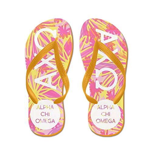 Cafepress Alphachiomega Tropisch Roze - Flip Flops, Grappige String Sandalen, Strand Sandalen Oranje
