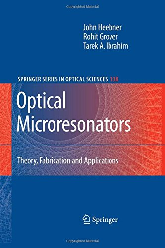 Optical Microresonators  Theory  Fabrication  And Applications  Springer Series In Optical Sciences