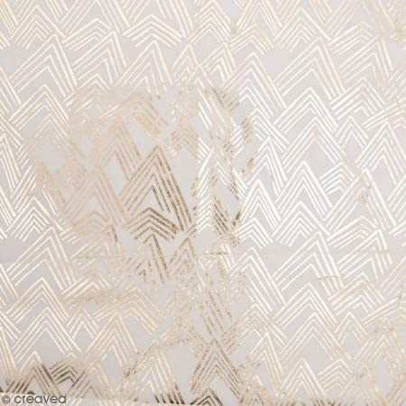 Retal de lienzo algodón Made by Me – montañas doradas Hot Foil – fondo gris claro – 50 x 140 cm: Amazon.es: Hogar