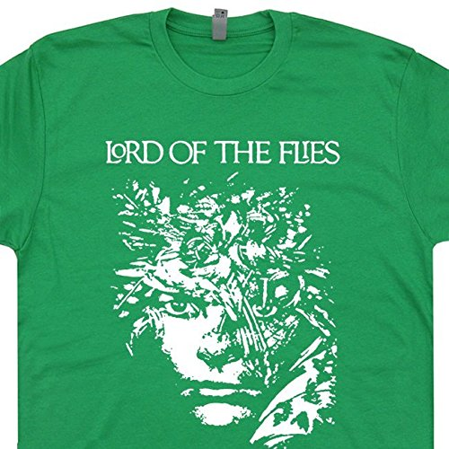 M - The Lord Of the Flies T Shirt William Golding Book Literary Literature Rings Cool Tee Shirtmandude (Lord Of The Rings Book Shirt)