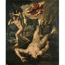 high quality polyster Canvas ,the High quality Art Decorative Prints on Canvas of oil painting 'Coxie Michiel I La muerte de Abel After 1539 ', 10 x 12 inch / 25 x 31 cm is best for Nursery decor and Home decor and Gifts