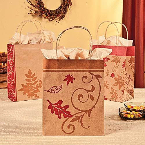 Fall Kraft Paper Bags (12 Pack) 9