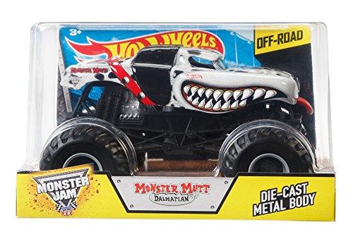 Monster Truck Dog >> Hot Wheels Monster Jam Monster Mutt Dalmatian Die Cast Vehicle 1 24 Scale