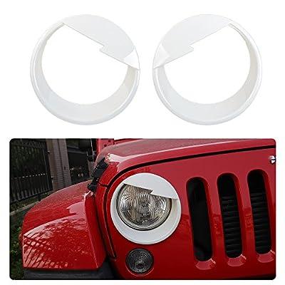 JeCar Black Angry Bird Headlight Cover & Turn light singnal cover kit for 2007-2018 Jeep Wrangler & Wrangler Unlimited JK