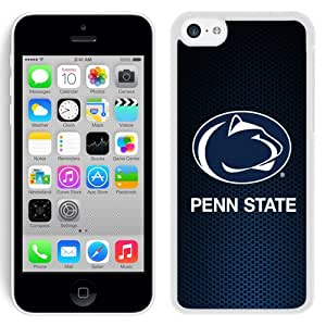 Fashionable And Unique Designed With Ncaa Big Ten Conference Football Penn State Nittany Lions 12 Protective Cell Phone Hardshell Cover Case For iPhone 5C Phone Case Black