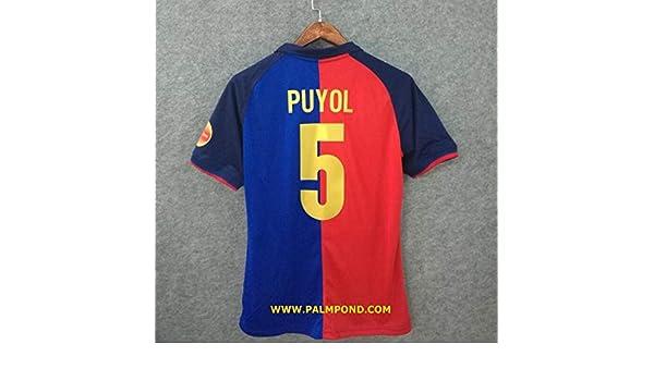 5ffcdef9e51 Amazon.com   Retro PUYOL 5 Barcelona Home Soccer Jersey   Sports   Outdoors