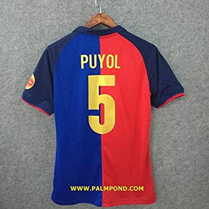 7f9dc1b91 Amazon.com   Retro PUYOL 5 Barcelona Home Soccer Jersey   Sports ...