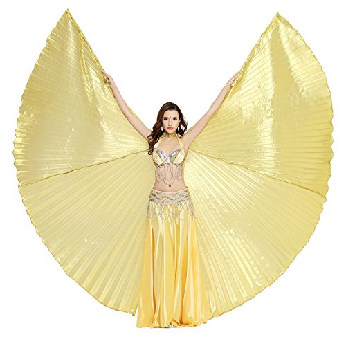 Dance Fairy Shiny Belly Dance Costume Isis Wings,Gold