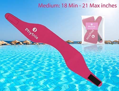 Upgraded Swimming Headband, Phytnis Pink Size Medium( Ages 3 - 9 yrs) Swimming Headband, Doctor Recommended Swimming Headband, Best Swimming Headband for 2018