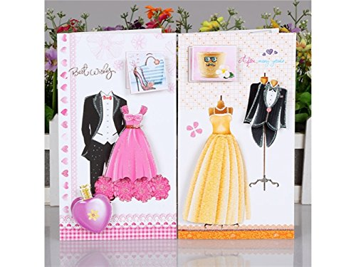 Gift Wedding Cards 8 Pcs USport Envelopes Cards Cards Colorful Greeting Dress Invitation with Exquisite ZYPt5E5qxw