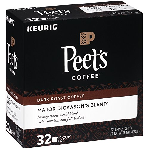Peet's Coffee K-Cup Packs Major Dickason's Blend, Dark Roast Coffee, 32 Count Single Cup Coffee Pods, Rich, Smooth & Complex Dark Roast Blend, Full Bodied & Layered Flavor; for Keurig K-Cup Brewers by Peet's Coffee (Image #3)