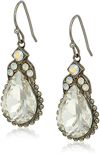 Sorrelli White Bridal Decorative Deco Drop Earrings - Sorrelli White Earrings