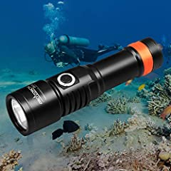 ORCATORCH Lastest Version D530 offers impressive brightness with a focused narrow beam, which is a must-have primary dive light for any divers. It provides 1050 lumens maximum output across a concentrated 5-degree beam that is ideal for point...