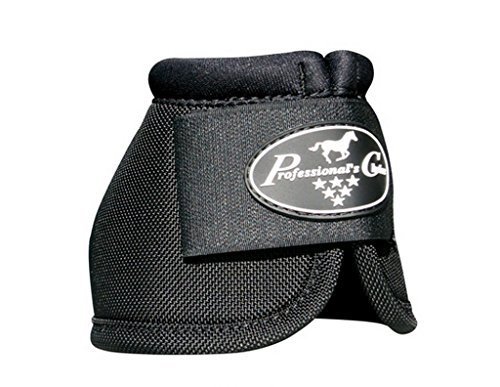 Professionals Choice Equine Ballistic Hoof Overreach Bell Boot, Pair (2X-Large, Black)