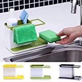 Rian's Online 3 IN 1 Stand for Kitchen Sink for Dishwasher Liquid, Brush, Sponge, Soap Bar And More