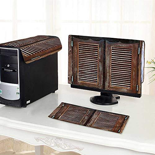 - Computer dustproof Three-Piece Western Rustic Wild West Swinging Wooden Cowboy Bar Saloon Door Brown Peru for LED LCD Screens Flat Panel HD Display /30