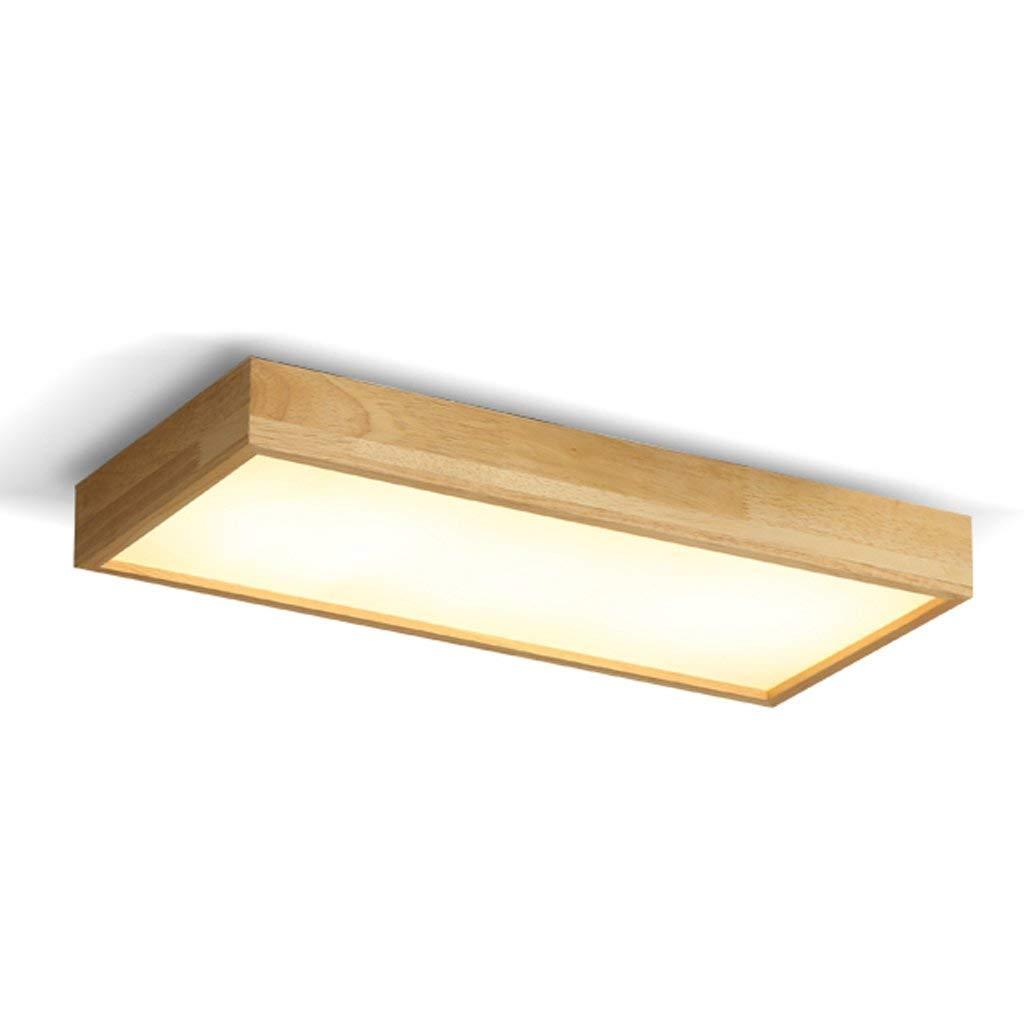 FXING Die erntezeit - Einfache Massivholz Deckenleuchten rechteckige Atmosphäre Wohnzimmer Beleuchtung LED-Zimmer Schlafzimmer Leuchten (Farbe  60  28 cm)