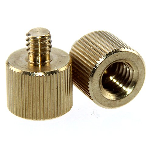 CAMVATE 2 Pack 3/8 -16 Female to 1/4-20 Male Tripod Thread Reducer Adapter for Tripod