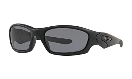 e8d53f071e3 Oakley SI Straight Jacket Polarized Sunglasses Matte Black Frame Gray Lens