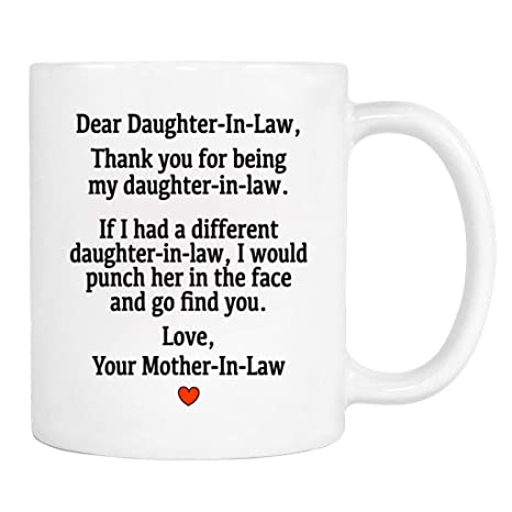 Amazon.com | Dear Daughter-In-Law. 11Oz Love, Mother-In-Law ...