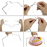 Cake Decorating Supplies with 11 inch cake turntable 12.7Angled Icing Spatula Cake leveler Adjustable Cake Scraper Icing Smoother cake letters 8 fondant modeling Revolving Cake Stand