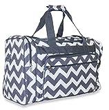 NGIL Chevron Travel Medium Duffel Bag (Grey)