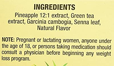 Only Natural Tea Pineapple Extract, Garcinia Cambogia Tea Bags, 20 Count