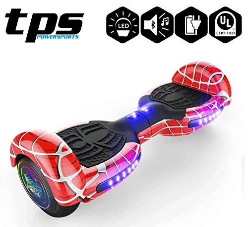 TPS Hoverboard Self Balancing Scooter for Adults and Kids 300W Dual Motor 6.5″ Wheels Bluetooth Speaker LED Lights Self Balance Hoverboards Great Gift UL2272 Certified