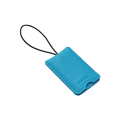b4bee8984d99 Amazon.com: Haoyushangmao PU Leather Luggage Tag, Business Travel ...