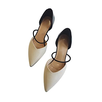 0c6eff451e913 Amazon.com | WENJUN Shallow Mouth Pointed Shoes High Heels Fine with ...