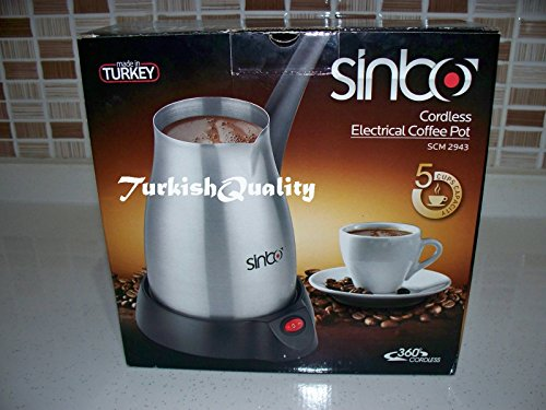 Sinbo Turkish coffee maker pot, Electrical Cezve, ibrik, kettle, Made in Turkey