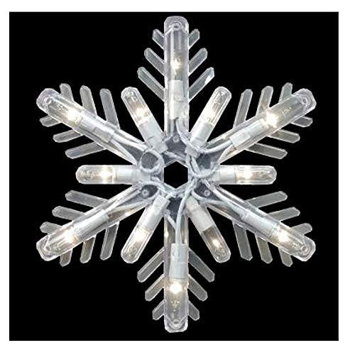 Ge 150-light Clear Random Sparkle Snowflake Icicle Light Set (1)]()