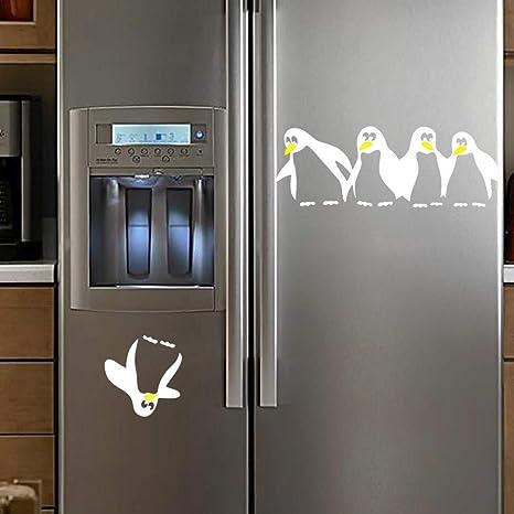 XCGZ Pegatinas de pared Pingüino Refrigerador Etiqueta Pegatinas ...