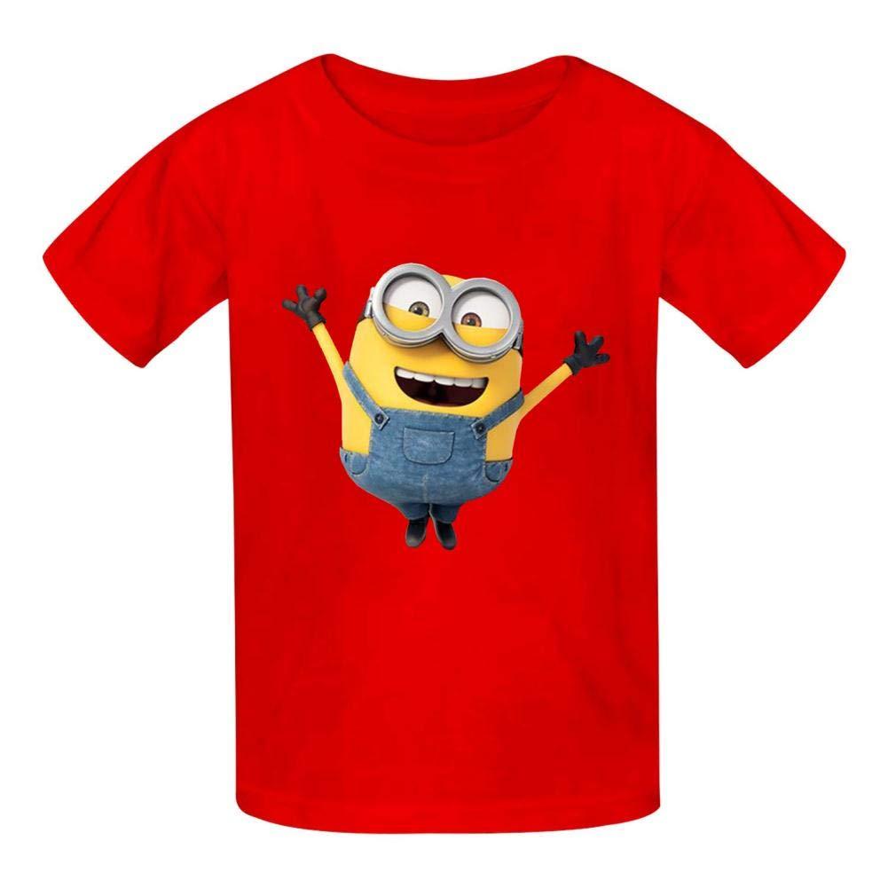 TSDDM Little Yellow Man New Summer Cotton Boys t-Shirts Short Sleeve Solid T-Shirs
