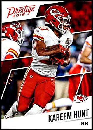 695bf0b5 Amazon.com: 2018 Prestige NFL #160 Kareem Hunt Kansas City Chiefs ...
