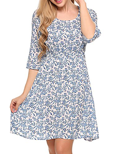 3/4 sleeve casual summer dresses - 6