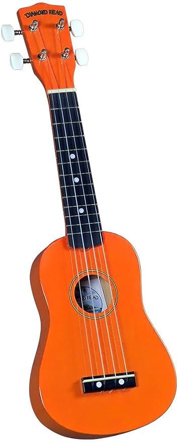 Amazon Diamond Head Du 103 Rainbow Soprano Ukulele Orange