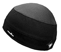 Distinct Name: BlackGender: Mens/UnisexColor: BlackSize: OSFMPrimary Color: BlackRated for temperatures and heat indexes from warm to hot. Combines the seamless contour superb sweat management of the Skull Cap with a 4-way stretch mesh top. 3...