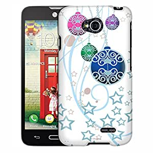 LG Optimus L70 Case, Slim Fit Snap On Cover by Trek Christmas Ornaments on White Case